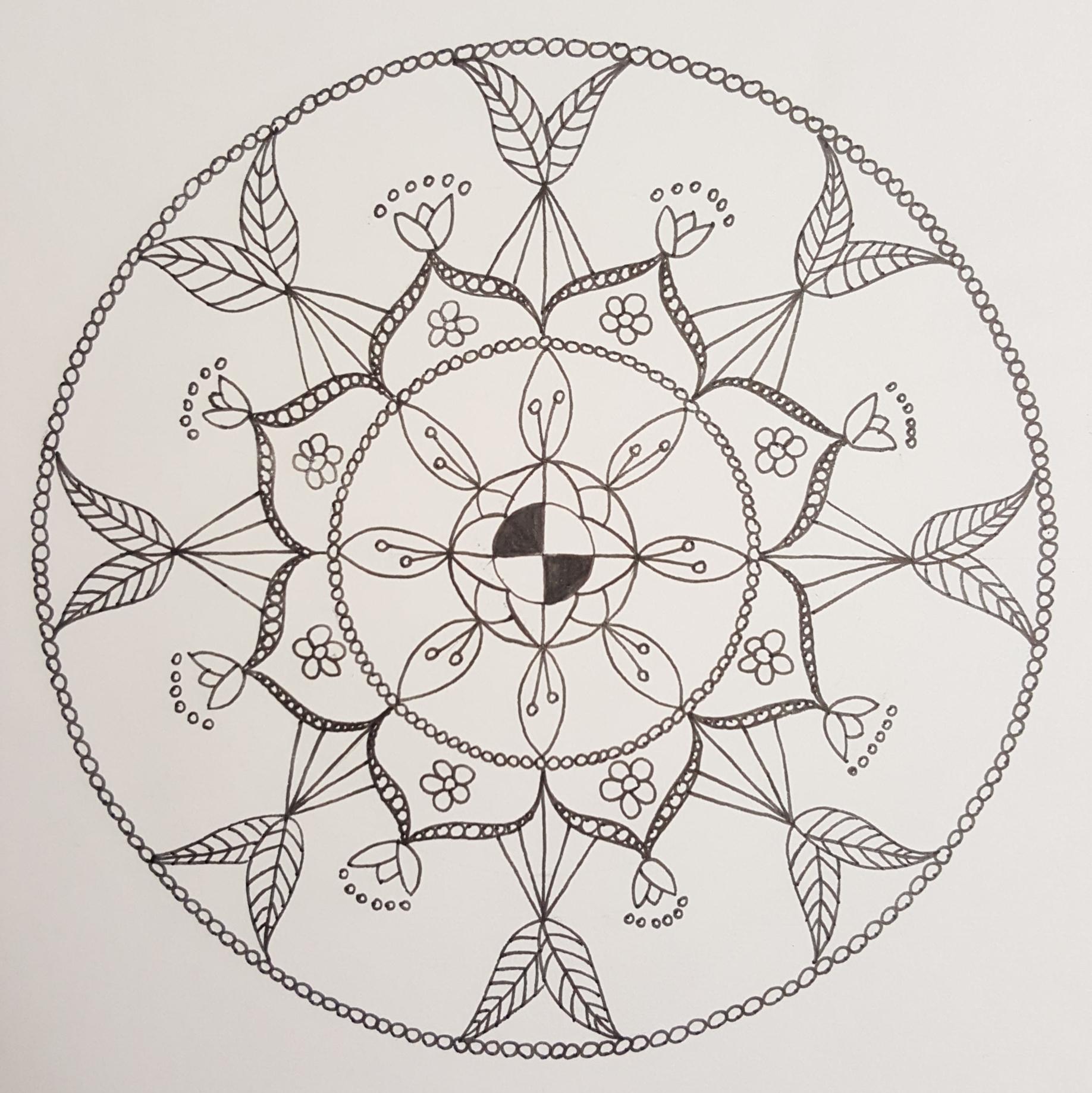 Mandala zeichnen (9)